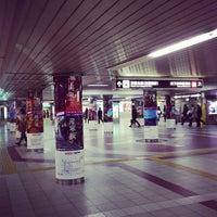 Photo taken at Keihan Yodoyabashi Station (KH01) by okayamaaac on 1/27/2013
