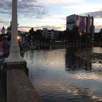 Photo taken at Lake Mirror by Michael S. on 10/19/2012
