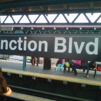 Photo taken at MTA Subway - Junction Blvd (7) by Tarron D G. on 9/22/2012