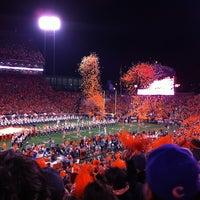 Photo taken at Frank Howard Field at Clemson Memorial Stadium by Kathlene H. on 11/25/2012
