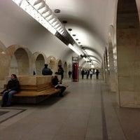 Photo taken at metro Kuznetsky Most by Alexey I. on 11/2/2012