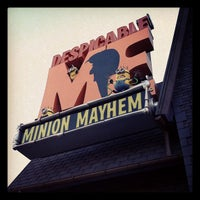 Photo taken at Despicable Me: Minion Mayhem by Crystal R. on 11/25/2012
