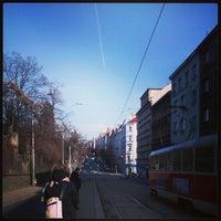 Photo taken at Bílá labuť (tram, bus) by Nadiia I. on 3/23/2013