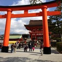 Photo taken at Fushimi Inari Taisha by Hirofumi T. on 2/10/2013