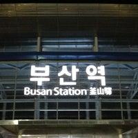 Photo taken at Busan Stn. - KTX/Korail by Sophia H. W. on 9/23/2012
