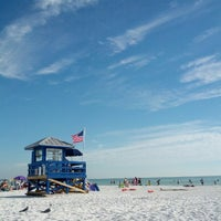 Photo taken at Siesta Key Beach by David A. on 11/4/2012