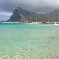 Photo taken at Spiaggia San Vito Lo Capo by Paola M. on 4/5/2015