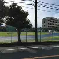 Photo taken at Nihon University Track and Field Stadium by NORI on 11/29/2015