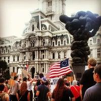 Photo taken at Thomas Paine Plaza by Joe S. on 7/4/2013