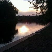 Photo taken at Schleusenkanal by Thilo G. on 8/6/2013