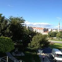 Photo taken at Sütlüce Boğaz Köprüsü by Fatih Y. on 8/1/2013