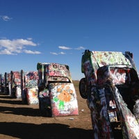 Photo taken at Cadillac Ranch by Jacob V. on 2/10/2013