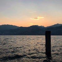 Photo taken at Beach Malcesine by Antonio A. on 4/22/2017