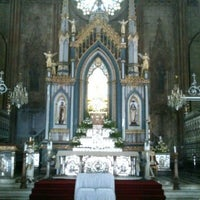 Photo taken at Minor Basilica of San Sebastian (Shrine of Our Lady Of Mount Carmel) by Elbonez A. on 4/27/2013