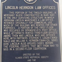 Photo taken at Lincoln-Herndon Law Office by Stephanie S. on 5/14/2017