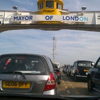 Photo taken at Woolwich Ferry by Karim R. on 9/15/2012