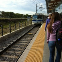 Photo taken at South Campus LRT Station by Monique M. on 8/7/2012
