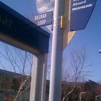 Photo taken at MetroLink - Delmar Loop Station by Monica C. on 3/1/2012