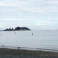 Photo taken at Departure Bay Beach by Miso H. on 8/22/2012