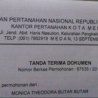Photo taken at Badan Pertanahan Nasional Kantor Pertanahan Kota Medan by Monique T. on 9/16/2013
