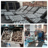 Photo taken at Seafood Auction Market by Minjeong K. on 12/21/2013