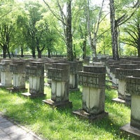 Photo taken at Cmentarz na Zaspie by Adam N. on 5/15/2013
