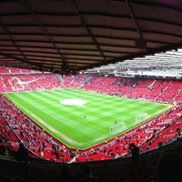 Photo taken at Old Trafford by Eirik L. on 5/12/2013