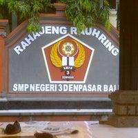 Photo taken at SMPN 3 Denpasar by Eka S. on 11/15/2012