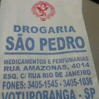 Photo taken at Farmacia Sao Pedro by Pedro Arthur S. on 3/5/2013
