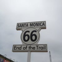 """Photo taken at Santa Monica Route 66 """"End of the Trail"""" by Leo L. on 6/25/2013"""
