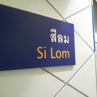 Photo taken at MRT Si Lom (SIL) by Peach R. on 1/30/2013