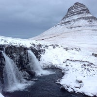 Photo taken at Kirkjufellsfoss by Hjortur S. on 1/6/2017