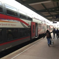 Photo taken at Gare SNCF de Nice Saint-Augustin by Hjortur S. on 3/14/2013