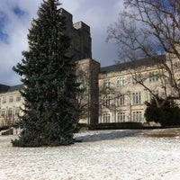 Photo taken at Burruss Hall by Ankit A. on 2/1/2013