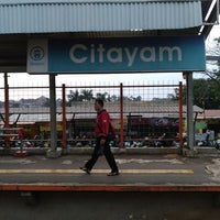 Photo taken at Stasiun Citayam by Djony H. on 6/18/2017