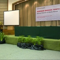 Photo taken at Gedung Yustinus Unika Atma Jaya by Djony H. on 11/11/2014