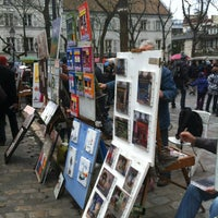 Photo taken at Place du Tertre by Laurence V. on 12/25/2012
