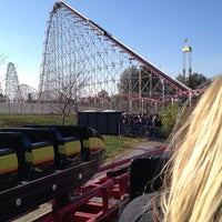 Photo taken at Worlds of Fun by Nicole K. on 10/27/2012