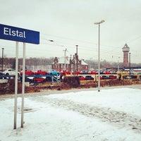 Photo taken at Bahnhof Elstal by Simpampon on 1/24/2014