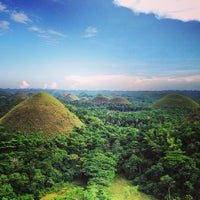 Photo taken at The Chocolate Hills by Simpampon on 4/6/2013