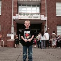 Photo taken at Hough Elementary by Jennifer L. on 9/4/2013