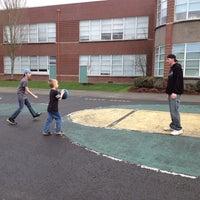 Photo taken at Hough Elementary by Jennifer L. on 3/9/2014