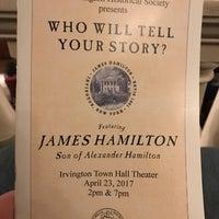 Photo taken at Irvington Town Hall Theater by Alan B. on 4/23/2017