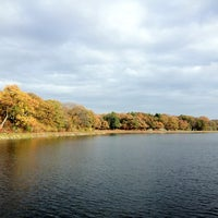 Photo taken at Chestnut Hill Reservoir by Kayleigh M. on 10/30/2012