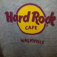 Photo taken at Hard Rock Cafe Nashville by Tom M. on 2/17/2013