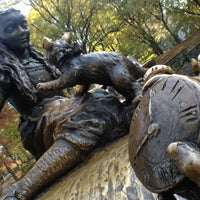Photo taken at Alice in Wonderland Statue by Amy H. on 11/12/2012