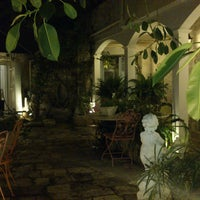 Photo taken at The Aigli, 1800 boutique hotel by Aigli, 1800 boutique hotel Lefkada on 6/4/2014