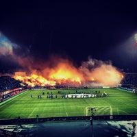 Photo taken at Стадион «Петровский» by Roman ⛵. on 10/18/2013