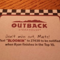 Photo taken at Outback Steakhouse by Kyle F. on 7/13/2013