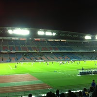 Photo taken at Nissan Stadium by Miya on 10/10/2012